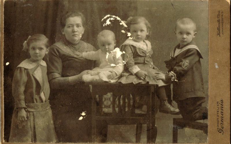 Marta Pitrek z dziećmi